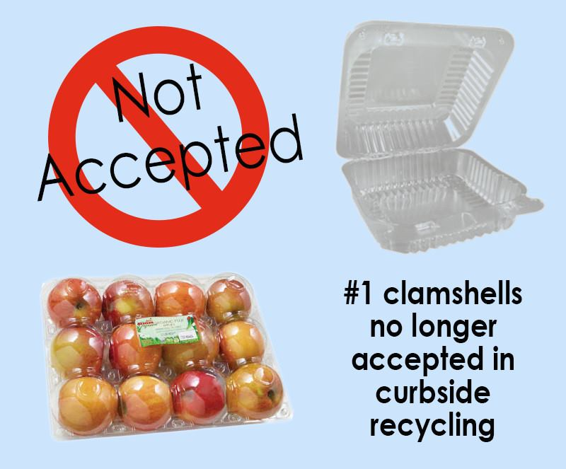 Clamshell no longer accepted.