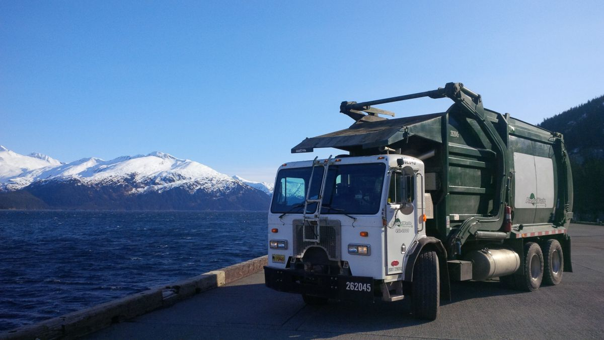 Picture of Kodiak Truck near water.